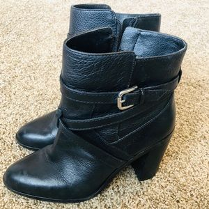Vince Camuto Strap Block Ankle Boot